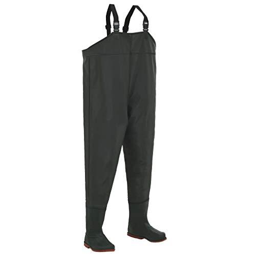 hualiyuyuan Pantalon échassier avec Bottes Vert Pointure 42