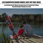 Leo canne à pêche bricolage siège de moulinet pour moulinet canne à pêche moulinet canne à pêche poignée accessoire de pêche-27576