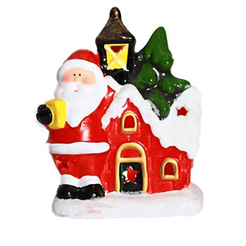 Ornements Miniatures de Noël – Ornements de Bureau de NoëL Avec Des Décorations de Table En CéRamique de Poupée du Père NoëL Fournitures de Fête de Noël