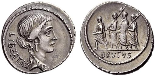 Personified Libertas (obverse); L. Junius Brutus, with lictors (reverse)