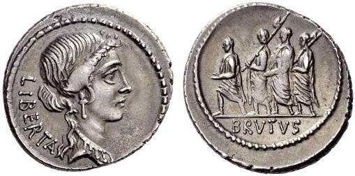 Personified Libertas (obverse); L. Junius Brutus, with lictors (reverse)