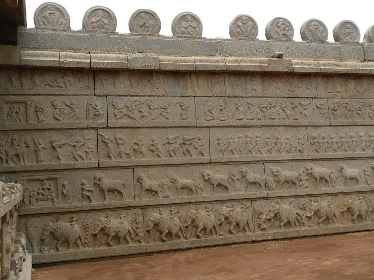 Wall of Hazara Rama Temple