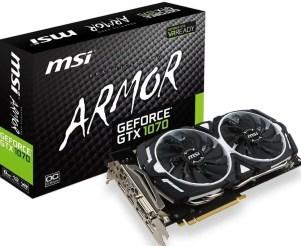 MSI Armor GTX 1070 GPU