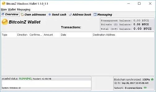 BitcoinZ Wallet