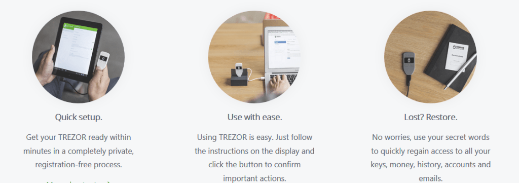 easy and secure Trezor