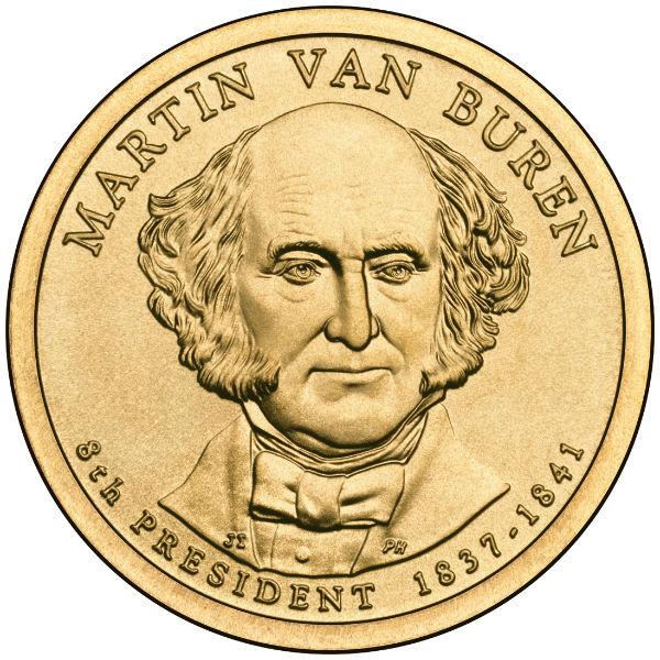 2008D $1 Van Buren 25-Coin Roll