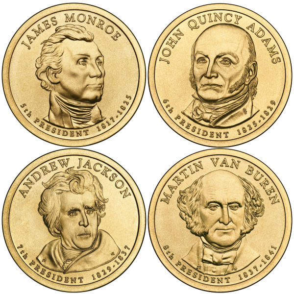 2008P $1 Presidential 4-Coin Set