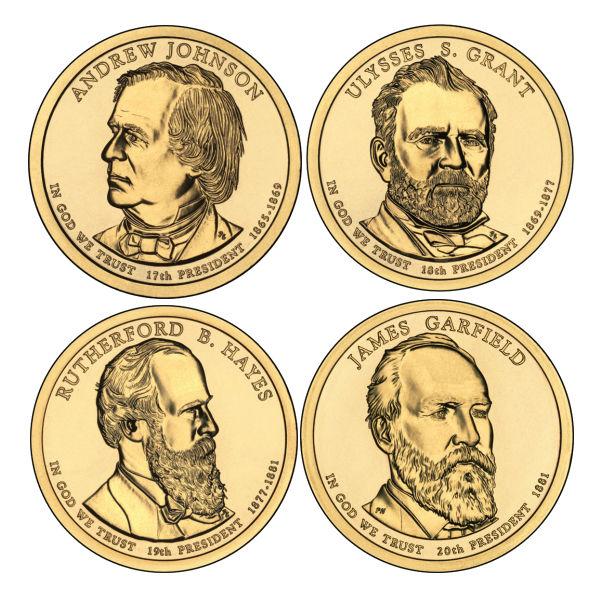 2011P $1 Presidential 4-Coin Set