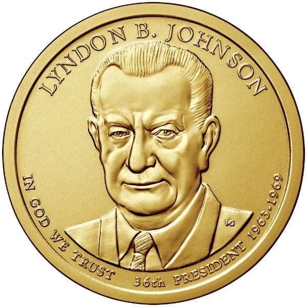 2015D $1 Johnson 25-Coin Roll