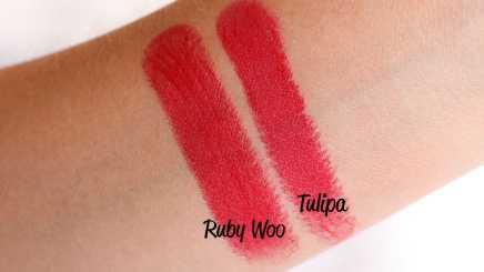 Batons matte Evelyn Regly Tulipa comparação