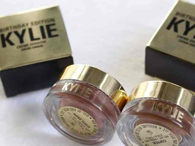 Birthday Edition Kylie Cosmetics sombras cremosas embalagens