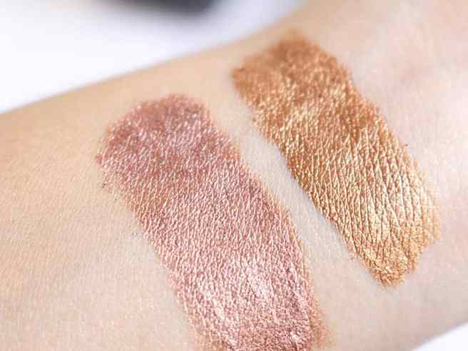 Birthday Edition Kylie Cosmetics Rose Gold e Copper swatches