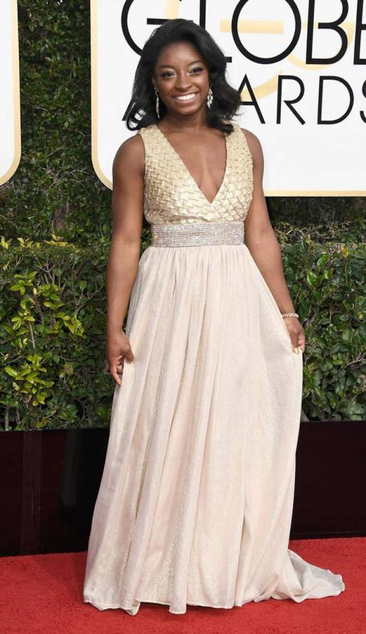 Simone Biles at the 2017 Golden Globes