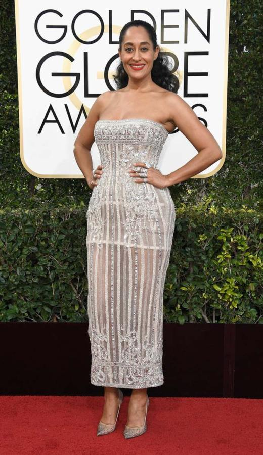 Tracee Ellis Ross in Zuhair Murad Couture at the 2017 Golden Globes