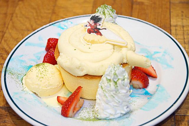Fala sério: não dá uma peninha ter comer esta sobremesa? Ela é tão linda com esse Goku aí em cima.