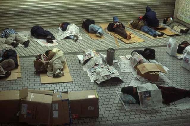 moradores de rua do Japão