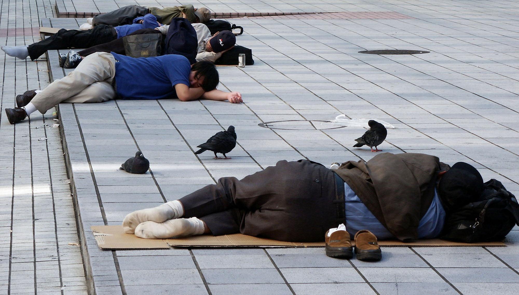 Moradores de rua no Japão