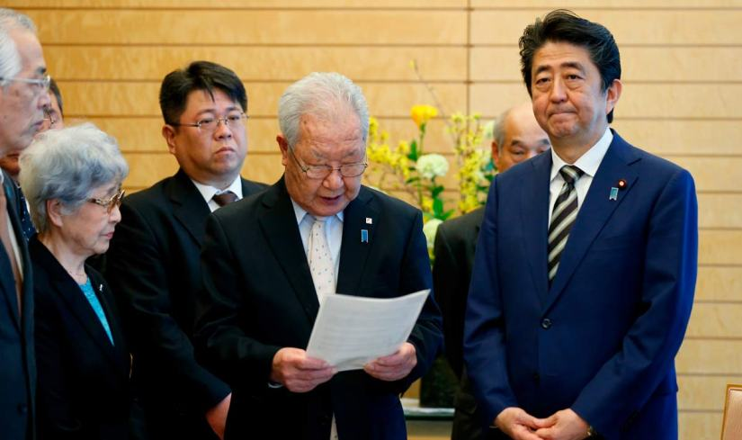 Shinzo Abe, Shigeo Iizuka e Sakie Yokota