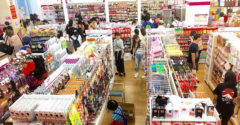 Lojas de 100 ienes - produtos úteis dia a dia