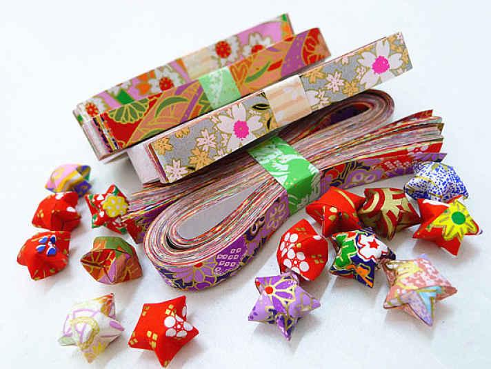 papel origami estrela