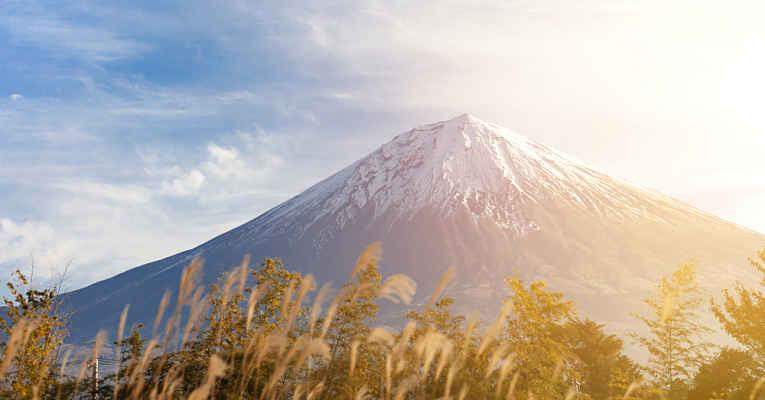 vulcões no Japão