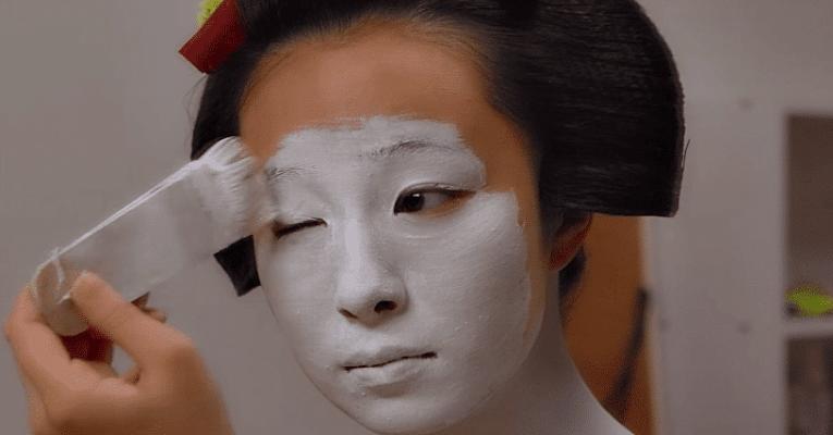 Maquiagem geishas