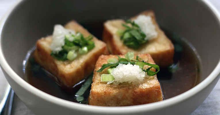 Receita agedashi-tofu