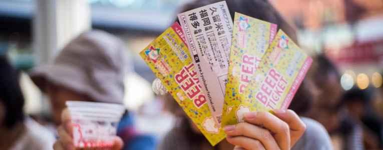 Ticket do festival de cerveja artesanal Kyushu