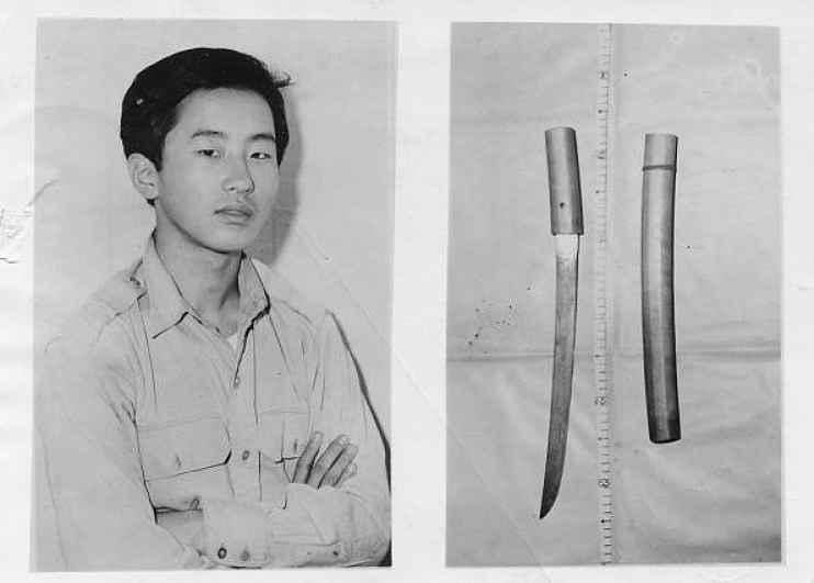 Otoya Yamaguchi e espada