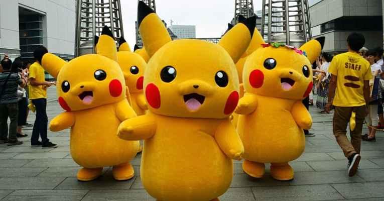 Parada Pikachus dançantes
