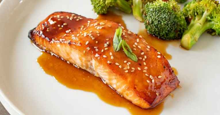 Receita de salmão teriyaki
