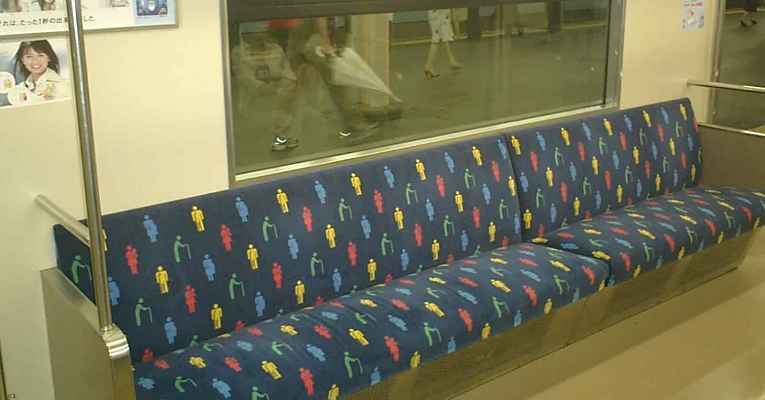 Assento prioritário no transporte público