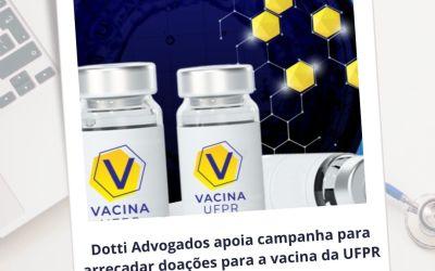 Dotti Advogados apoia campanha para arrecadar doações para a vacina da UFPR