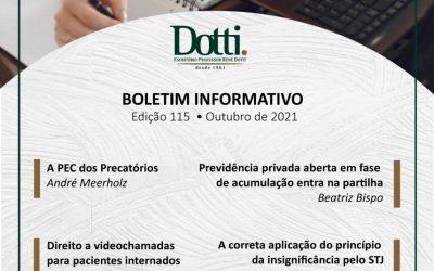 Boletim Informativo   Edição 115   Outubro 2021