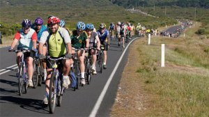 The Great Victorian Bike Ride attracts thousands of cyclists.