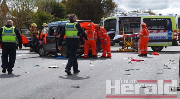 Woman injured in collision