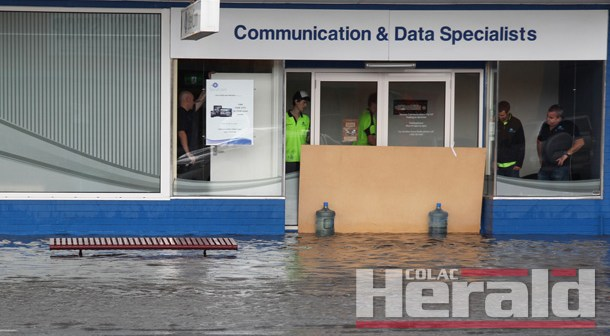 Deluge creates flash flooding
