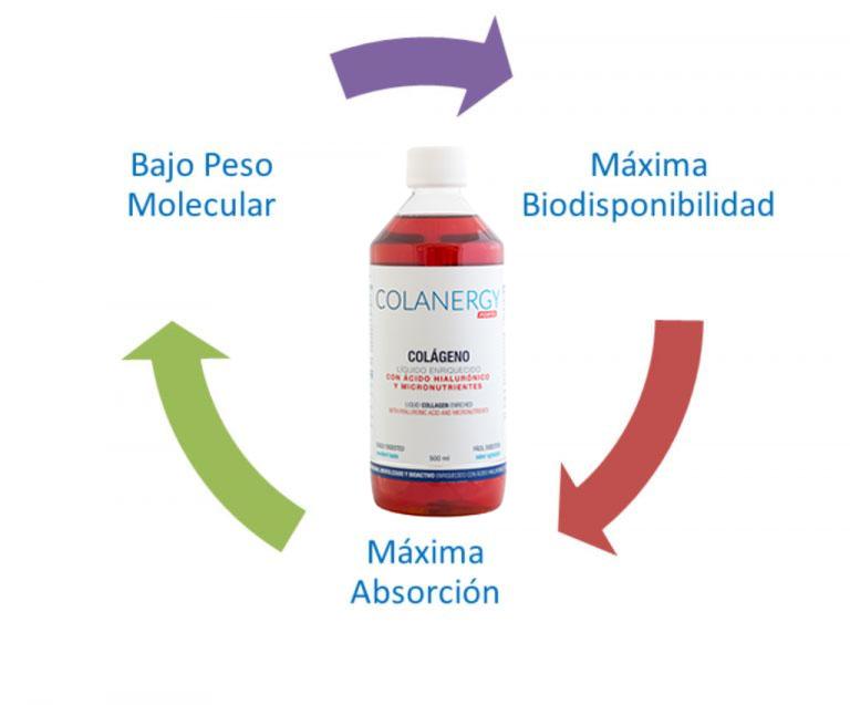 Ciclo del Colanergy forte para conocer las mejoras y beneficios de tomar un colágeno marino natural