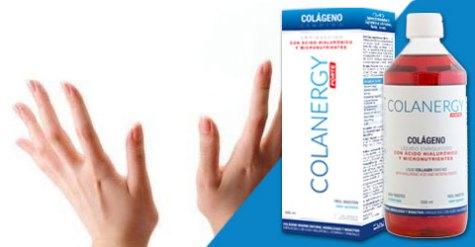 efecto del colágeno colanergy forte en las manos, uñas y cabello: fortalece las uñas, da luminosidad y brillo al pelo