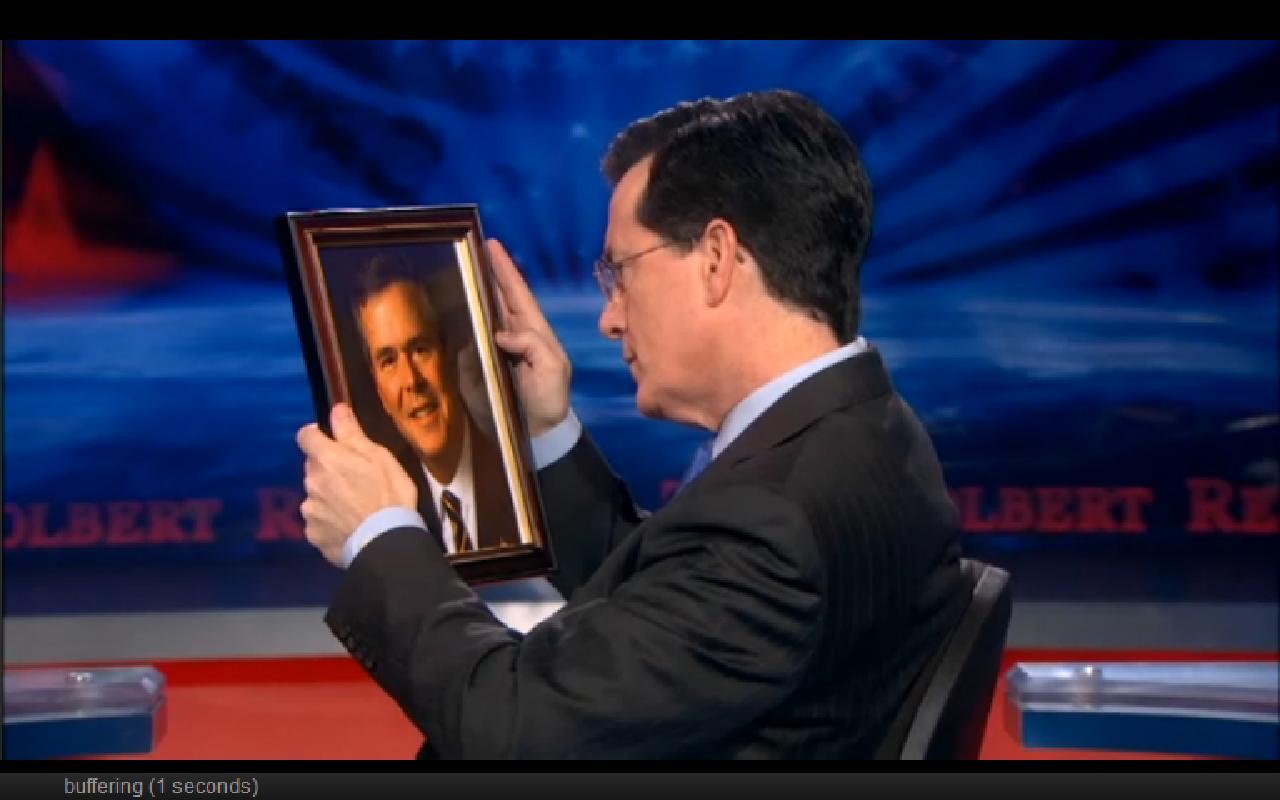 Stephen Colbert and Jeb Bush's portrait