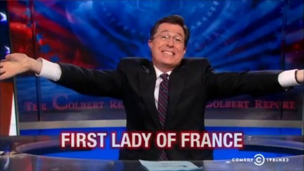 Stephen Colbert is the First Lady of France