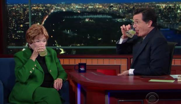 Shirley MacLaine on The Late Show with Stephen Colbert
