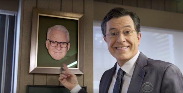 Steve Martin in Stephen Colberts Office