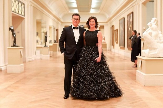 Stephen Colbert and Evelyn McGee-Colbert at the MET Gala 2017