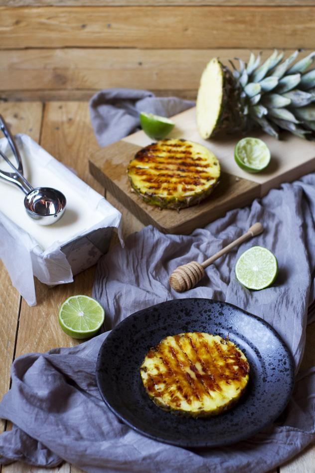 Ananas grigliato con gelato al cocco_05