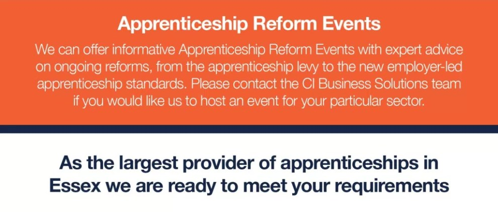 Apprenticeship Reform Events