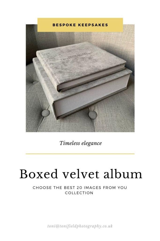 boxed velvet album