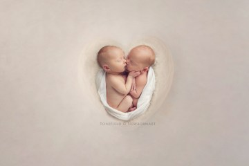 Baby Photo Session Ideas with Twin Girls.