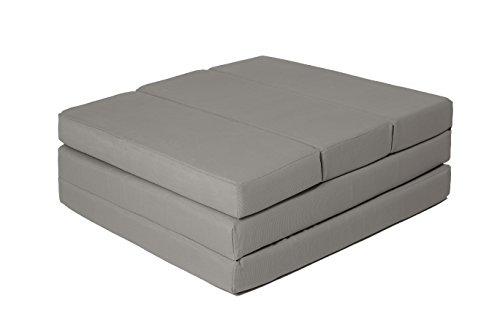 ZOLLNER® Cómodo colchón plegable / cama para invitados / colchón supletorio / colchoneta plegable, 65×220 cm, gris antracita, en varios colores, del especislista textil para hostelería, serie «Soma»