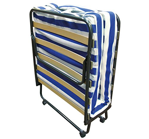 Baldiflex Dali – Cama plegable con colchón de poliuretano expandido Waterfoam ortopédico (10cm de altura, somier de láminas, 80x 190cm)